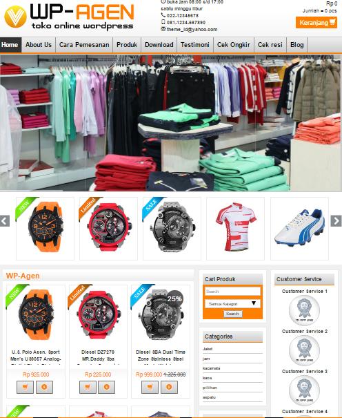 theme wp agen untuk toko online