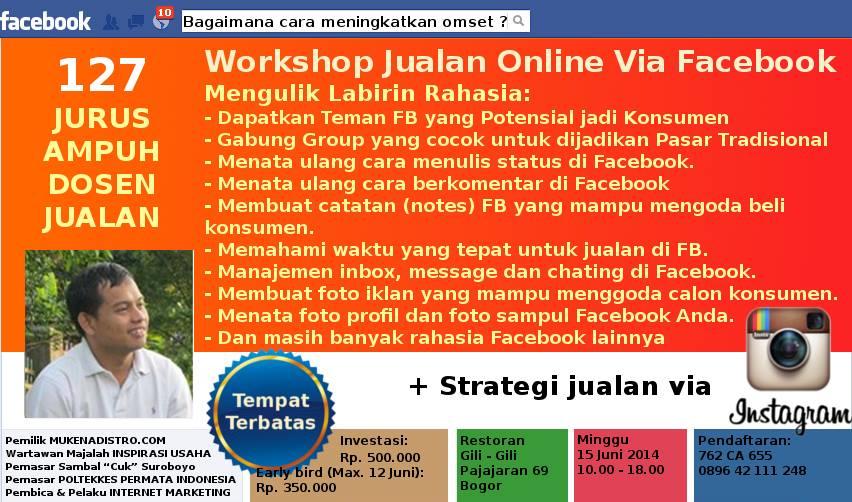 Belajar Facebook Marketing Bersama Dosen Jualan